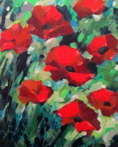 Poppies Acrylic on Canvas