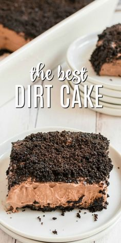 Dirt Cake Dessert – A whipped cream pudding cake topped with crushed Oreos and gummy worms. This easy no bake dessert is a kid favorite! Easy No Bake Desserts, Best Dessert Recipes, Desert Recipes, Fun Desserts, Cake Recipes, Dirt Cake, Crushed Oreos, Pudding Cake, Cake Toppings
