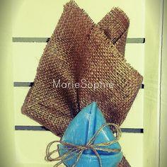 Μπομπονιέρα#θαλασσινό#λινάτσα-αρωματικό σαπούνι καραβάκι#www.mariesophie.gr
