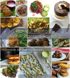 Pantain recipes for every stage of ripeness - Expand your plantain repertoire beyond tostones and plantain chips. Learn to cook with green, yellow, or black plantains with 111 AIP plantain recipes! Allergy Free Recipes, Paleo Recipes, Real Food Recipes, Cooking Recipes, Fodmap Recipes, Cooking Tips, Plantain Recipes, Potato Recipes, Ethnic Recipes
