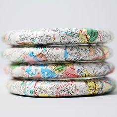 New Directions Recycled Map Bangle Bracelet Oklahoma