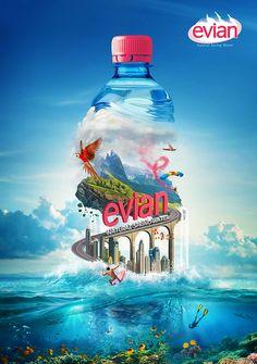 Evian on Digital Art Served
