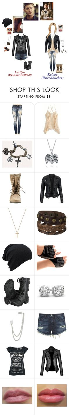 """Dean Winchester and Castiel's girls"" by c-a-marie2000 ❤ liked on Polyvore featuring Machine, American Eagle Outfitters, Bling Jewelry, Steve Madden, MuuBaa, Gucci, French Connection, 3x1, supernatural and castiel"