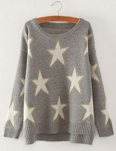 Take It Easy Stars Oversized Sweater