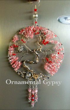 Large Cherry Tree of Life (with Owl) Suncatcher. Made this one for my daughter ❤