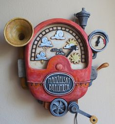 Marriage barometer - Woodcarving ...  Řezbářství Hejkalíci - Tomáš Hejhal Wood Watch, Marriage, Woodcarving, Accessories, Artwork, Wooden Clock, Valentines Day Weddings, Work Of Art, Auguste Rodin Artwork