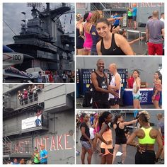 "#Ironstrength work-out and doing the ""Nae-Nae"" on the USS Intrepid military aircraft-carrier on the beautiful Hudson River at dusk this evening; no big deal right?  Saw some familiar faces and hair. Thanks @drjordanmetzl @jblaudio @chloesfruit & #ussintrepid for having us!  #bestThingsinLifeAreFree #jblaudio #chloesfruit #ihad2popsicles #drjordanmetzl #INY #ididTheStankyLeg by bayye1"