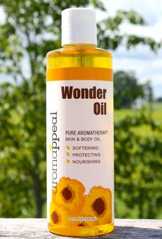 Wonder Oil by Aromappeal is a wonderful fusion of oils, herbs and fruits for the body. Use this Aromappeal product as a hot oil treatment for the hair, as a bath oil, or as a hair, body, massage or cuticle oil – the possibilities are limitless! Includes a medley of olive, sunflower seed, wheat germ, sweet almond, sesame and jojoba oils, enriched with the lively citrus scents of grapefruit, lemon and orange.