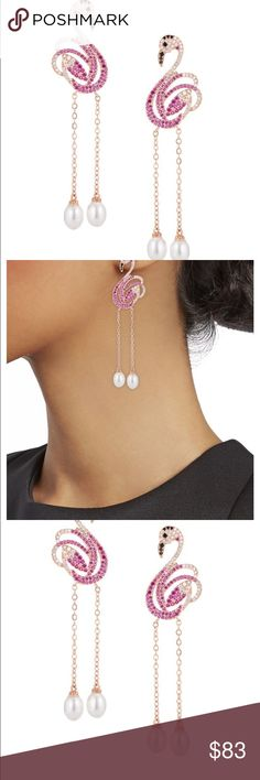 Shop Women's size OS Earrings at a discounted price at Poshmark. Plus Fashion, Fashion Tips, Fashion Design, Fashion Trends, Color Shampoo, Pink Flamingos, Women Jewelry, Drop Earrings, Pearls