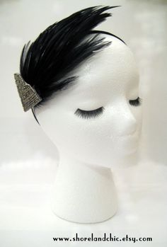 The Josephine 1920s flapper hairpiece New Years por ShorelandChic