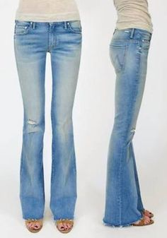The effortless slouch of the Slacker Fray jean in Love Drunk Cowboy wash!