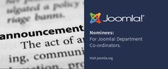 We are happy to announce that nominations for Department Coordinators have been finalised.