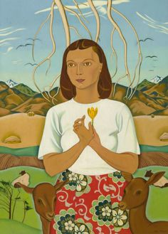 Goddess of Mercy by Rita Angus 1945 - 47 NZ Artist