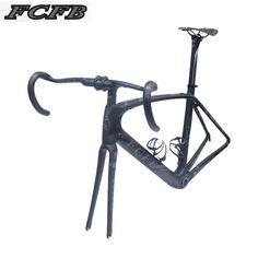2017 new FCFB carbon road frame bike road carbon frame 49/52/54/56cm matt BSA bicicleta road bike frame with carbon handlebar