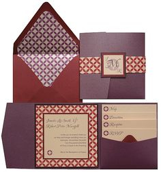 This fantastically unique color palette includes a Punch Perfetto Pocket Invitation with Mars accents. The Design Your Own Paper in our Retro pattern, printed in Mars ink on Soft Coral cardstock really ties everything together! Want This Invitation? Pocketfold Invitations, Purple Wedding Invitations, Save The Date Invitations, Wedding Favours, Wedding Cards, Diy Wedding, Invites, Wedding Ideas, Wedding Things