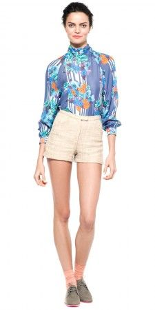 Turtleneck Blouse with Cuff  Love the print  Tucker by Gaby Basora
