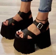 Sport shoes 2019 34 Ideas for 2019 Sexy Heels, High Heels, Gothic Shoes, Platform Shoes Heels, Funky Shoes, Dream Shoes, Shoes Outlet, Chunky Heels, Flip Flop Shoes