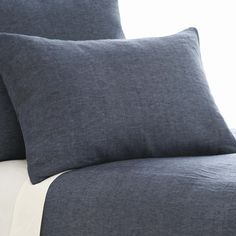 Chambray Linen Ink Duvet Cover  By Pine Cone Hill For Thos. Baker