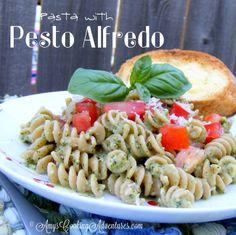Amy's Cooking Adventures: Pasta with Pesto Alfredo Sauce