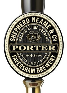SAA design were tasked by Shepherd Neame with creating a pair of Cask Ale pump clips, for Mild and Porter Ales, to sit along side the existing Classic Ale Food Packaging Design, Coffee Packaging, Bottle Packaging, Chocolate Packaging, Design Package, British Beer, Beer Label Design, Beer 101, Beer Mats