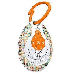 This stylish myBaby™ SoundSpa® was designed for travel, providing soothing sounds wherever you and your baby go. Plays four sounds: heartbeat, white noise, ocean, and lullaby.