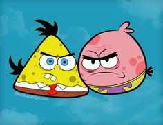 Bob Esponja version Angry Birds