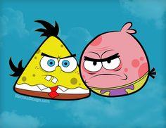 Angry Birds meet Spongebob by ~Olechka01 on deviantART