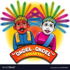 Illustration about Vector illustration, Ondel-ondel one of the mascot or icon Jakarta. Illustration of culture, anniversary, people - 114386227 Free Vector Illustration, City Illustration, Vector Graphics, Vector Art, Jakarta City, Anniversary Logo, Santas Workshop, Creative Walls, Free Vector Images