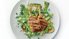 Greek Lamb Chops with Courgette, Mint and Fetta Salad
