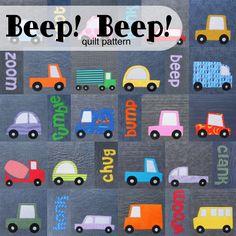 Beep! Beep! Cars and Trucks Quilt Pattern – Shiny Happy World