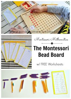 The Montessori Multiplication Board - math homeschooling Maria Montessori, Montessori Kindergarten, Montessori Practical Life, Montessori Homeschool, Montessori Elementary, Montessori Classroom, Montessori Toddler, Montessori Activities, Online Homeschooling