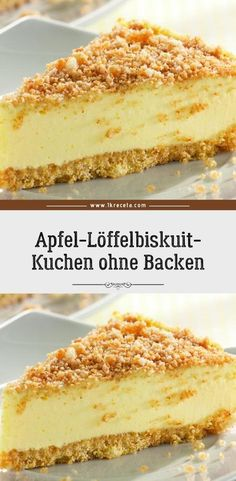 Apple Sponge Biscuit Cake without baking- Apfel-Löffelbiskuit-Kuchen ohne Backen Ingredients 1 kg apples, cleaned 8 tablespoons 5 St. Easy Vanilla Cake Recipe, Baked Cheesecake Recipe, Chocolate Cake Recipe Easy, Chocolate Cookie Recipes, Easy Cookie Recipes, Cheesecake Cookies, Cheesecake Bites, Dessert Recipes, Healthy Recipes