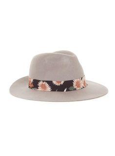 Chapeau style puritain en laine grise avec bord à motif - 50% off Brands & Accessories - Promos - TOPMAN FRANCE