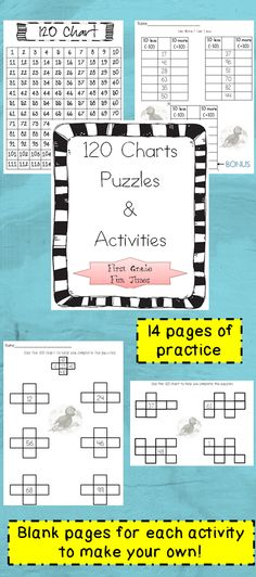 120 chart puzzles and activities  $