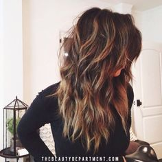 Perfect Long Wavy Hairstyle for Thick Hair - Long Hairstyles 2015