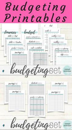 Complete finance printable set to keep you organized.