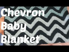 Easy Crochet Chevron Baby Blanket - Crafting With Claudie