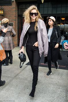 8b2c43a8de How long has this been going on  Gigi was pictured about in New York on