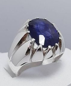 Sapphire engagement ring blue - blue sapphire engagement rings with pure white gold – Sapphire engagement ring blue Blue Sapphire Rings, Blue Rings, Silver Rings, Gold Ring, Blue Wedding Rings, Silver Claddagh Ring, Men's Jewelry Rings, Engagement Rings For Men, Ring Verlobung