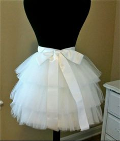 DIY tulle skirt. dont need the ribbon but it looks like the perfect size for underneath