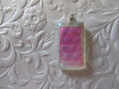 Fused Dichroic Pendant  Clear Dichroic  Fused Glass Pendant