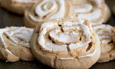 Opgerolde koekjes met meringue