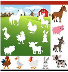 Find the correct shadow farm animals Royalty Free Vector Preschool Learning Activities, Animal Activities, Free Preschool, Kindergarten Worksheets, Preschool Activities, Farm Animals Preschool, Community Helpers Preschool, Kids Activity Books, Animal Puzzle