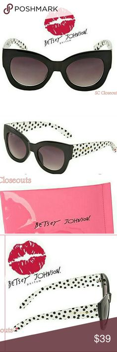Betsey Johnson throw back day polka dot shades. Nwt! Betsey Johnson throw back day polka dot sunglasses shades. With Pink Soft Case. Betsey Johnson Accessories Sunglasses