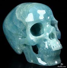 Aquamarine Crystal Skull