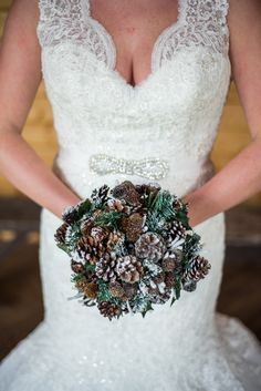 Pinecone and Evergreen Winter Bouquet