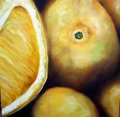 Lemons by #artist Lori Hill. #oil #painting found on the FASO Daily Art Show -- http://dailyartshow.faso.com