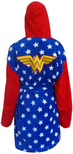 WebUndies.com Wonder Woman Logo Plush Robe