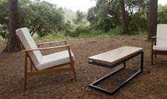 Cantilevered wooden coffee table by NACHSHONS on Etsy, $945.00