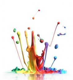 The creative mind - colorful and messy